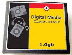 1GB Compact Flash Memory Card ( A Necessity)