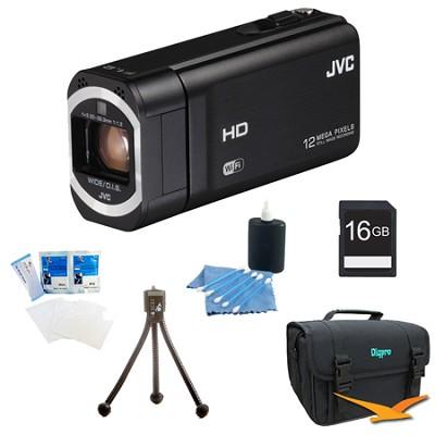 GZ-VX815BUS- HD Everio Camcorder 10x Zoom f1.2 (Black) with 16GB Bundle