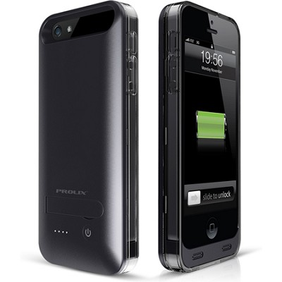 Power iPhone 5/5s External Protective Battery Case - MFI Apple Certified (Black)