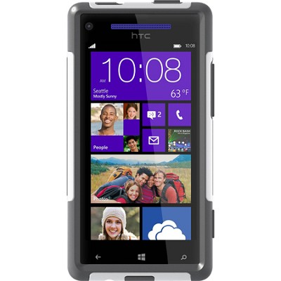 Commuter Series Case for HTC Windows Phone 8X - Retail Packaging - White