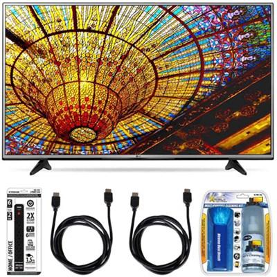 49UH6030 - 49-Inch 4K UHD Smart LED TV w/ webOS 3.0 Essential Accessory Bundle