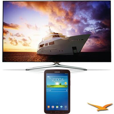 UN46F7500 - 46` 1080p 240hz 3D Smart Wifi LED HDTV with 7` Galaxy Tab 3 Bundle