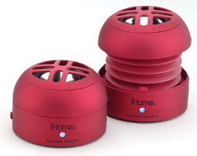 iHM77 Rechargeable Mini Speakers for iPod (Red)