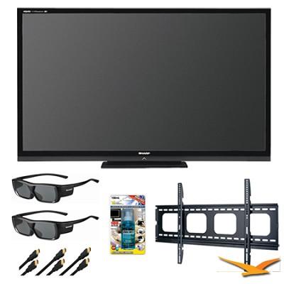 Aquos LC70LE735U 70` Aquomotion 240 Wifi 3D LED TV Bundle