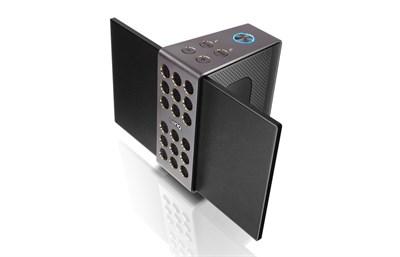 treVolo Wireless Bluetooth Portable Electrostatic Speaker -Black - OPEN BOX