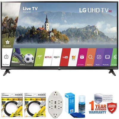 49` Super UHD 4K HDR Smart LED TV 2017 Model 49UJ6300 w/Extended Warranty Kit