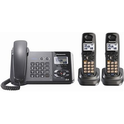 KX-TG9392T 2- Line Dect 6.0 Expandable Corded + Cordless Combo W/ Digital Answer