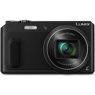 LUMIX DMC-ZS45 20X Zoom Black Digital Camera with Wink-Activated Selfie