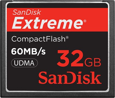 32 GB Extreme CompactFlash Memory Card 60MB/S {SDCFX-032G-A61}