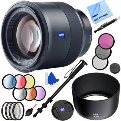 Batis 85mm f/1.8 Lens for Sony E Mount + 52mm Filter Sets Kit