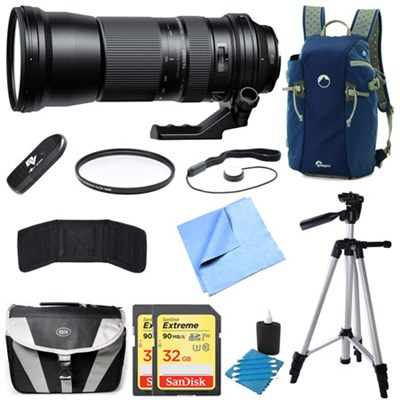 SP 150-600mm F/5-6.3 Di VC USD Zoom Lens for Nikon Bundle
