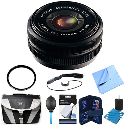 Fujinon XF 18mm (27mm) F2.0 R X-Mount Lens Bundle
