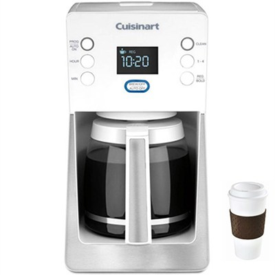 Perfec Temp 14-Cup Programmable Coffeemaker; White - DCC-2800W + Copco To Go Cup