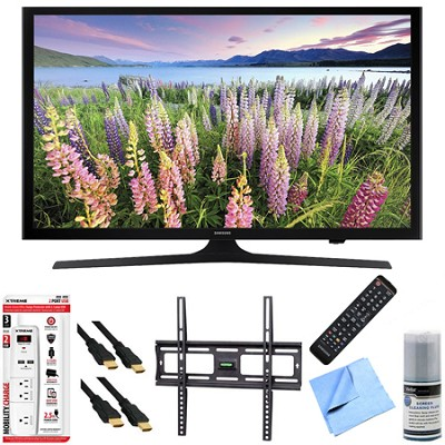 UN43J5200 - 43-Inch Full HD 1080p Smart LED HDTV Mount & Hook-Up Bundle