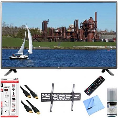 32LF5600 - 32-Inch 1080p 60Hz LED HDTV Plus Tilt Mount & Hook-Up Bundle
