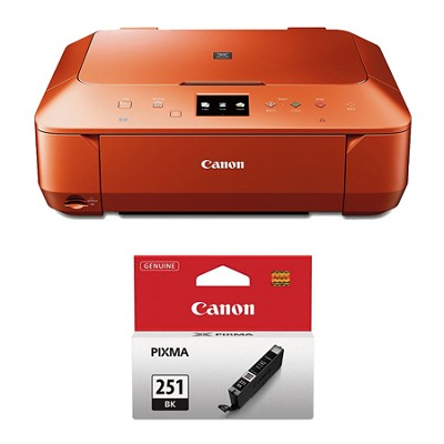 PIXMA MG6620 Wireless Color Photo All-in-One Inkjet Orange Printer Ink Bundle