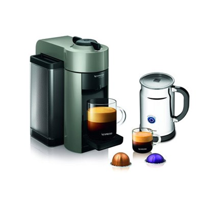 Vertuoline Evolu GCC1 Espresso Maker/Coffee Maker Grey/Aero+ Bundle