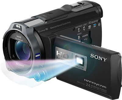 HDR-PJ760V 96GB HD Projector Camcorder 24.1 MP still with Geotagging