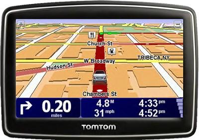 XL 340S Car Navigator GPS w/ Spoken Street Names & Wide Touchscreen