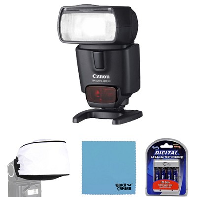 430EX II EOS Speedlite Flash w/ Rechargeable battery Kit and Diffuser