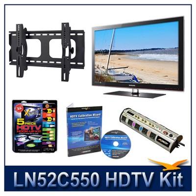 LN52C550 - 52` HDTV + Tilt Mount + Hook-Up + Power Protection + Calibration DVD