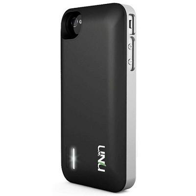 Exera Modular Detachable Battery Case for iPhone 4S 4 - Silver/Black