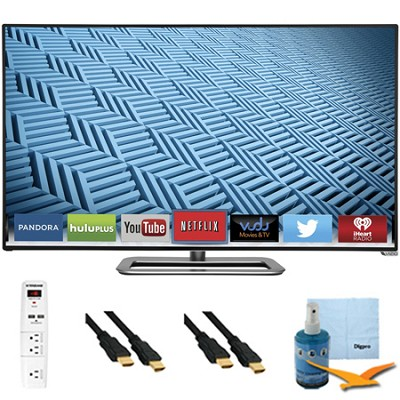 M652i-B - 65-Inch 1080p 240Hz Ultra-Slim LED Smart HDTV Plus Hook-Up Bundle