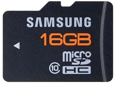 16GB Plus Series Class 10 Waterproof, Shockproof microSDHC Card w/ SD Adapter