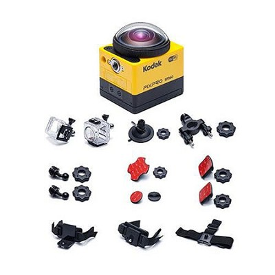 PIXPRO SP360 Full HD 1080p Action Camera with Extreme Pack, 16Mp