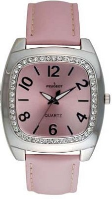 310PK Ladies Crystal Leather Watch