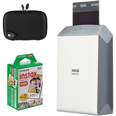 Instax Share Smart Phone Printer SP-2 w/ Carrying Case + Instax Mini 2-Pack
