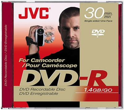 Mini DVD-R write-once Disc for DVD Camcorders  (1.4 GB - Single-sided)