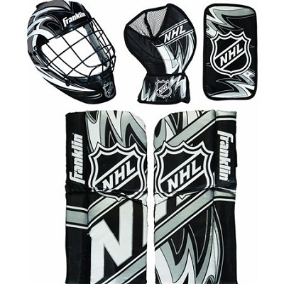 NHL Mini Hockey Goalie Equipment and Mask Set