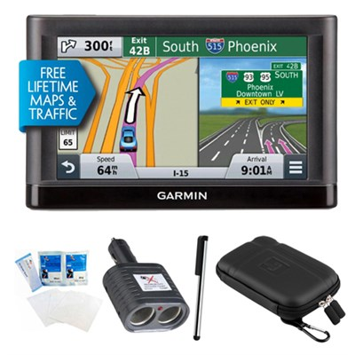 nuvi 55LMT Essential Series GPS Nav w/ Lifetime Maps & Traffic Essentials Bundle