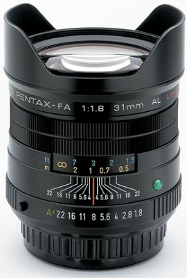 smc P-FA 31mm f/1.8 Auto Focus Limited Edition Lens for SLR Cameras (Black)