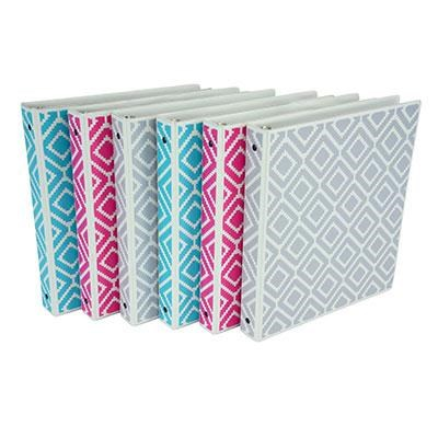 1` Diamond Print Binder 6pk