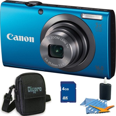 PowerShot A2300 16MP Blue Digital Camera 4GB Kit