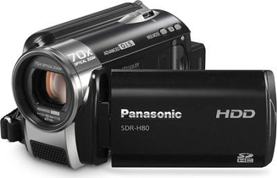 SDR-H80K Camcorder with 70X Zoom & 60GB HDD (Black)