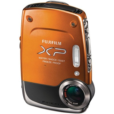 FinePix XP20 14 MP Underwater Digital Camera with 5x Zoom (Orange)  OPEN BOX