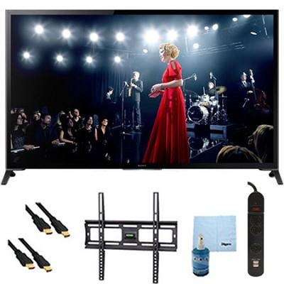 65` Flagship 4K UHD 3D Smart TV Motionflow 960 Mount & Hook-Up Bundle XBR65X950B