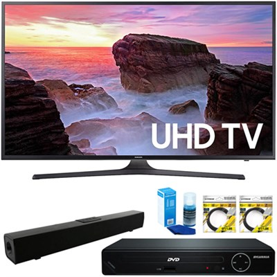 65` 4K HDR UHD Smart LED TV 2017 + HDMI DVD Player & Sound Bar Bundle