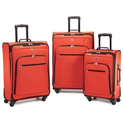 Pop Plus 3 Piece Nested Spinner Luggage Set (Orange) - 64590-1641