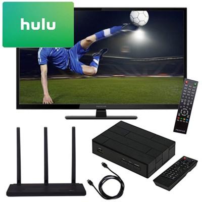 32 720p 60Hz Direct LED HDTV + Terk Antenna  TV Tuner $25 Hulu Gift Card Kit