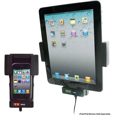 Bluetooth iPod/iPad/iPhone Car Player and Mount w/ Wireless FM Transmitter