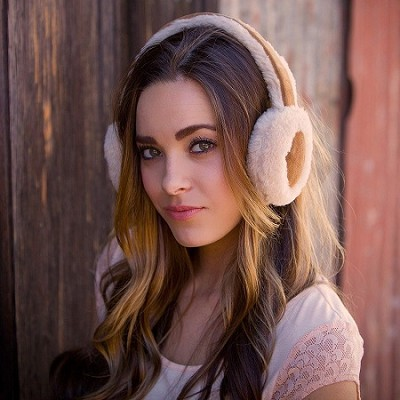 Bluetooth 100% Wool Earmuff Headphones with Mic