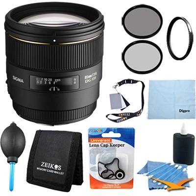 85mm F1.4 EX DG HSM Lens for Canon EOS DSLRs - Pro Lens Kit