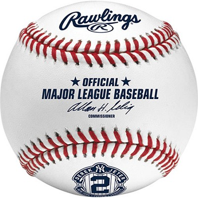 Authentic 2014 Derek Jeter Final Season Commemorative Baseball in Cube