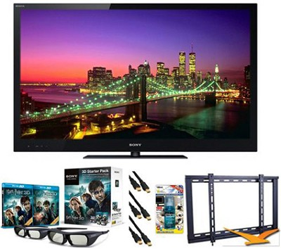 BRAVIA KDL-55NX720 55` 1080p 3D LED HDTV Bundle
