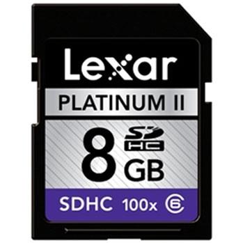 Platinum II 8 GB 100x SD/SDHC Flash Memory Card LSD8GBBSBNA100