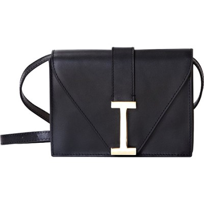 `I` Clutch Camera Clutch in Genuine Leather - Black